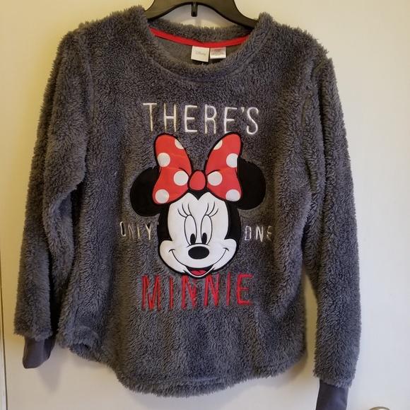 Disney Sweaters - Fluffy Disney Minnie Mouse warm comfy seatshirt 0d419fcc39c53
